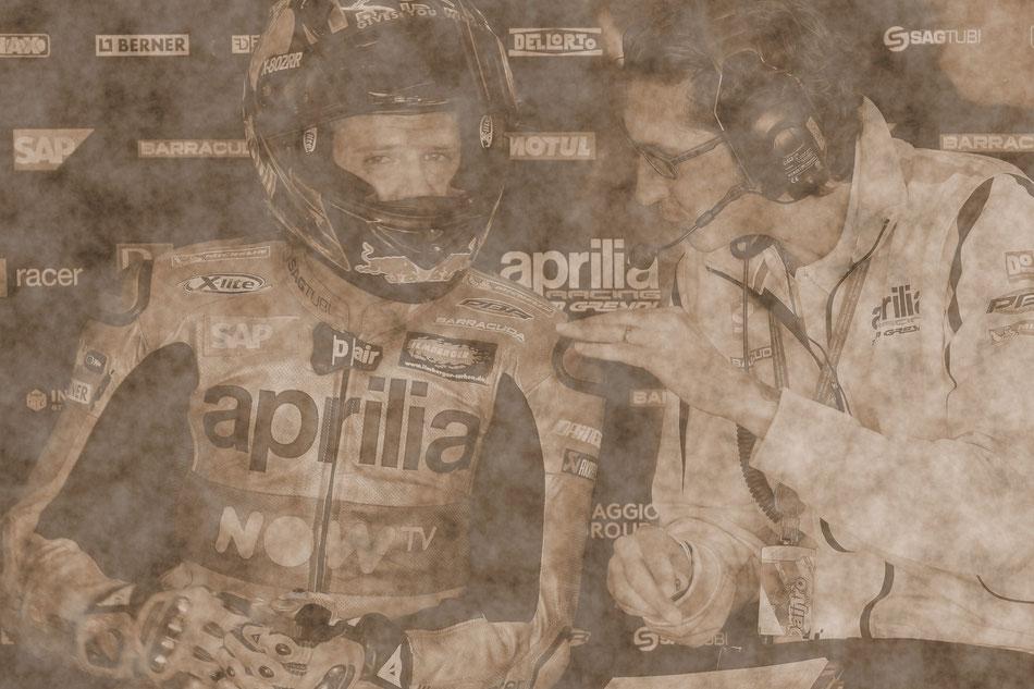 Stefan Bradl 2016 in der MotoGP für Aprilia am Sachsenring
