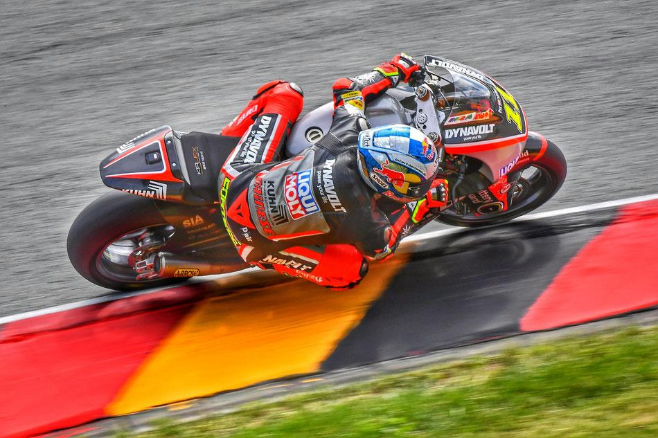 Sandro Cortese 2016 in der Moto2 für IntactGP am Sachsenring