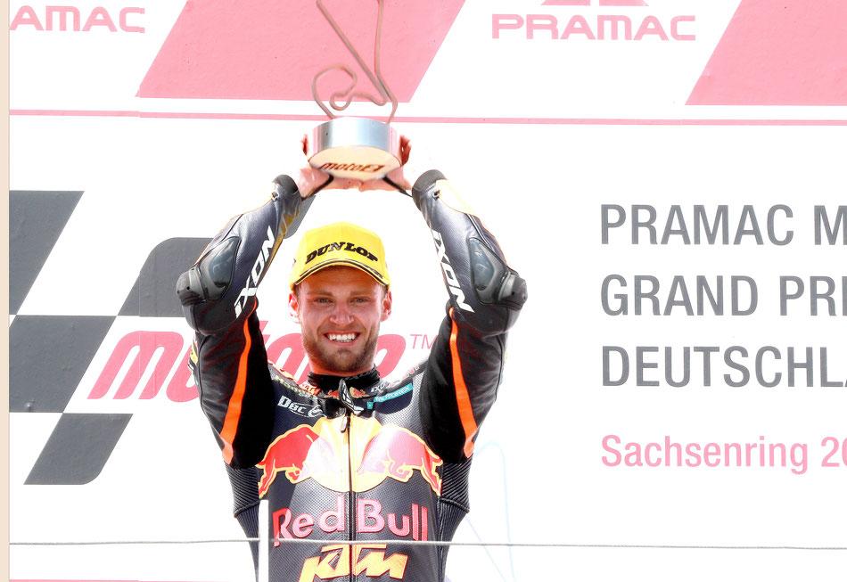 2018 gelingt Brad Binder der erste Sieg in der Moto2 am Sachsenring.