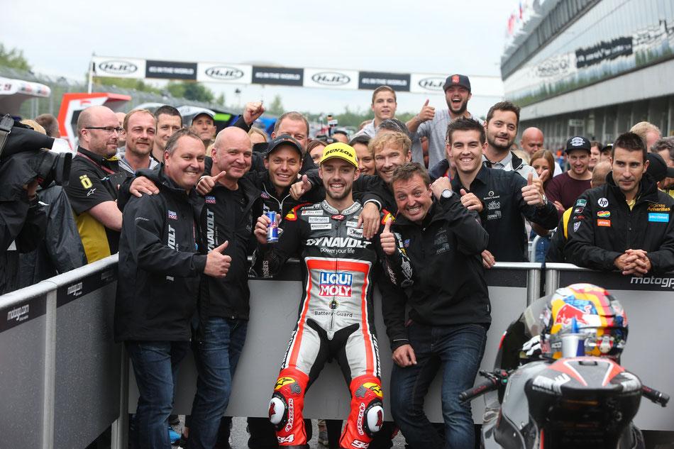 Jonas Folger in der Moto2 für Intact GP 2016 in Brünn