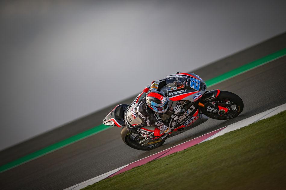 Marcel Schrötter beim Saisonauftakt der Moto2 2017 in Qatar
