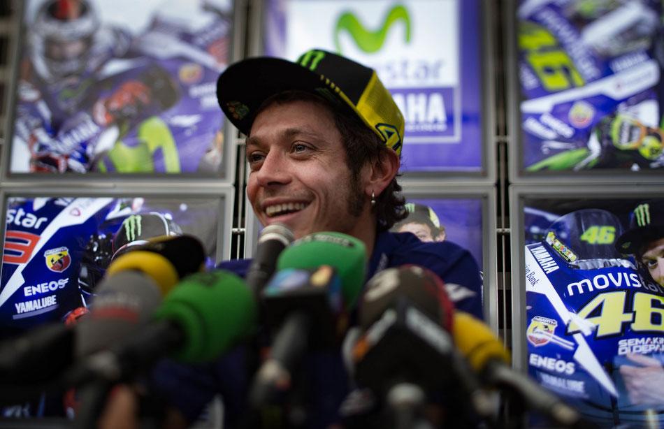 Valentino Rossi steht meist im Mittelpunkt des Interesses.