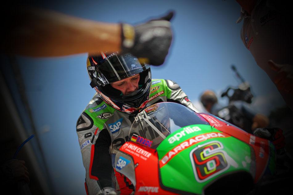 Stefan Bradl in der MotoGP 2016 für Aprilia in Brünn