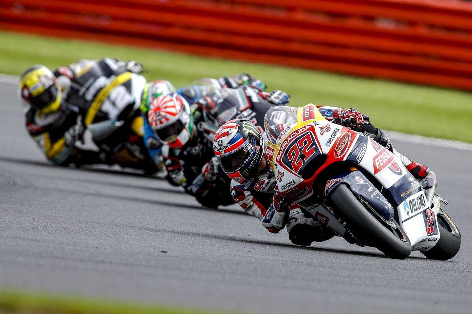 Da war in der Moto2 noch alles in bester Ordnung. Sam Lowes führt das Feld vor der Konkurrenz an.