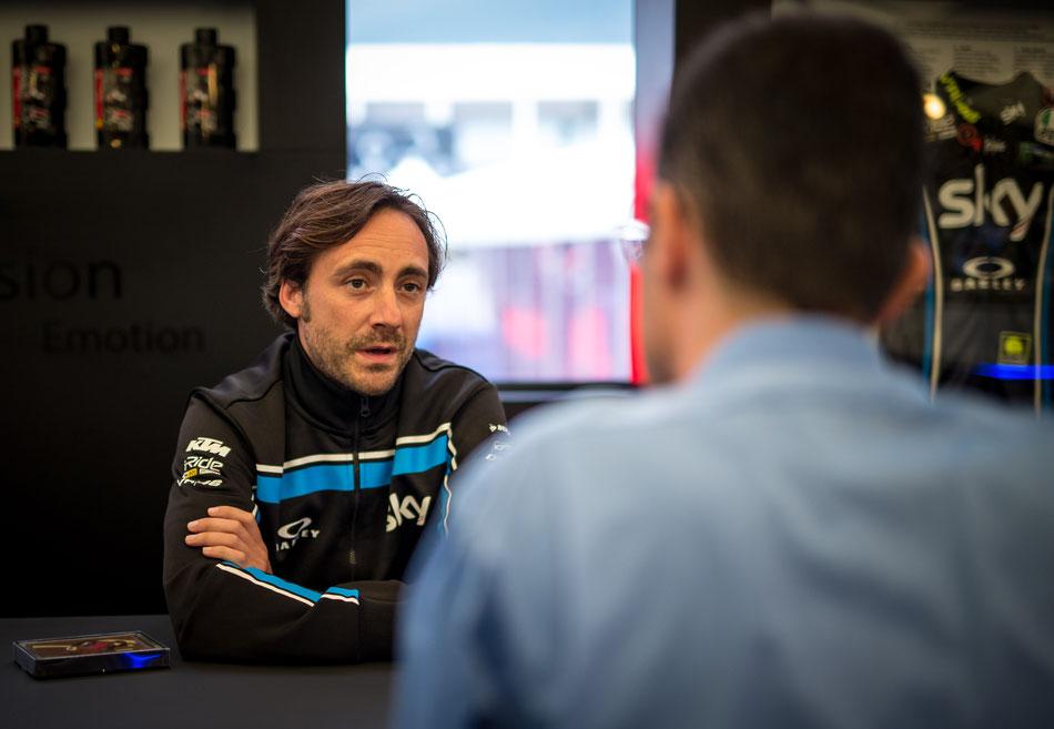 Pablo Nieto vom Sky Racing Team beim MotoGP Rennen am Sachsenring 2018