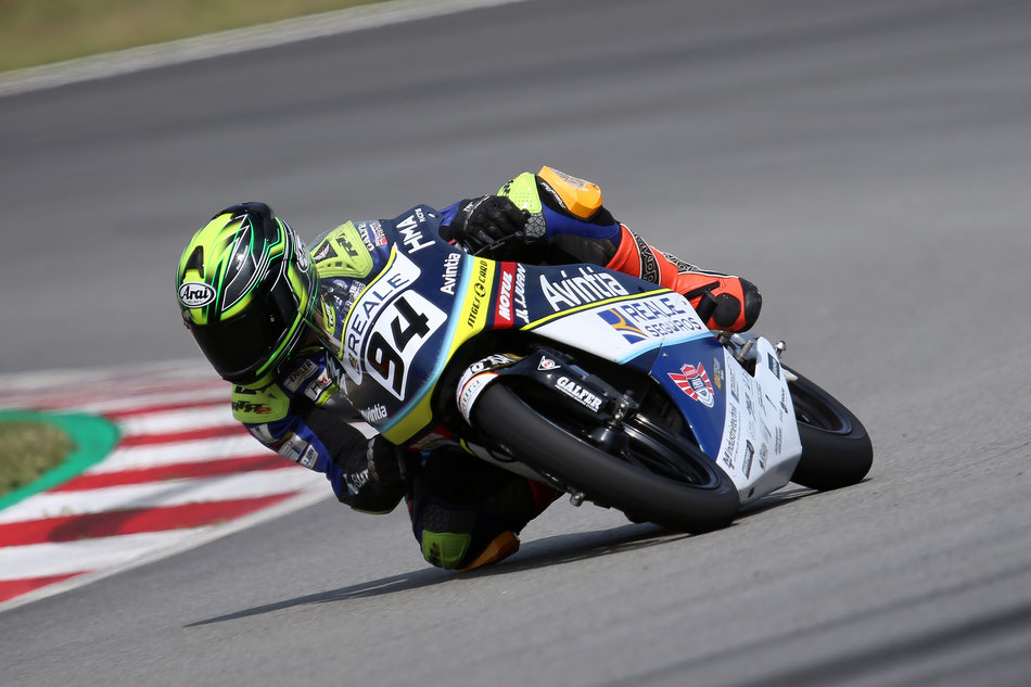 Marvin Siebdrath bei seinem Rennen in Barcelona.