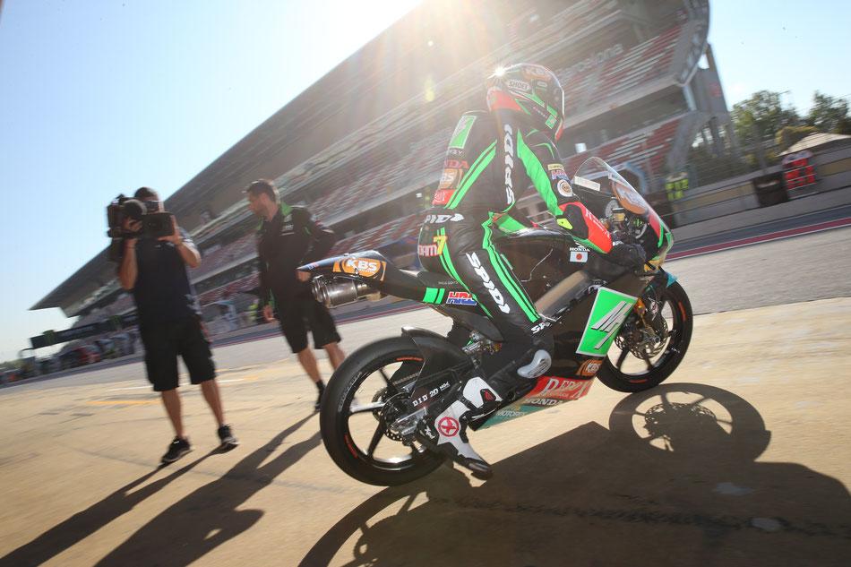 Auf dem Weg zum kommenden Superstar? Adam Norrodin verlässt 2016 in Barcelona die Box des SIC Racing Team.