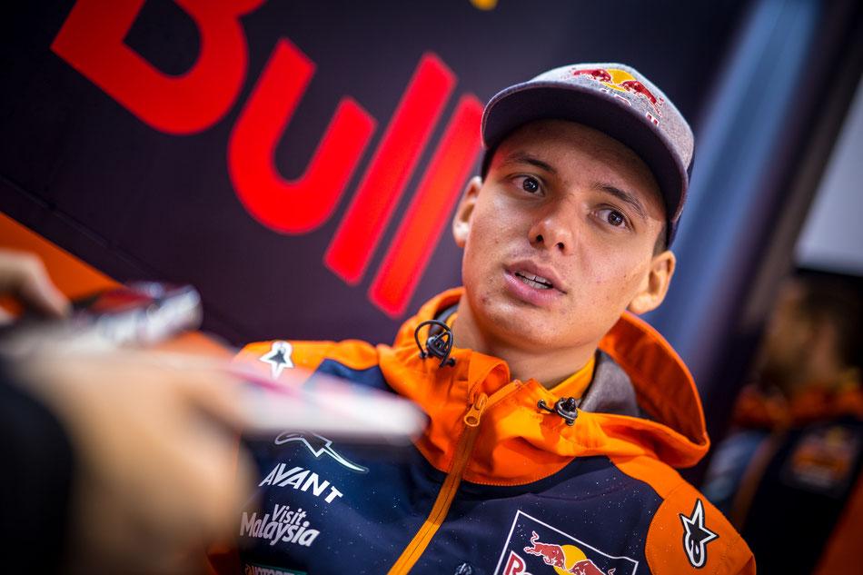 Bo Bendsneyder fährt in der Moto3 WM für das Red Bull KTM Ajo Team