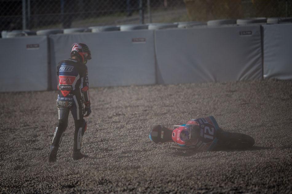 Marco Bezzecchi 2018 in der Moto3 in Barcelona für PrüstelGP