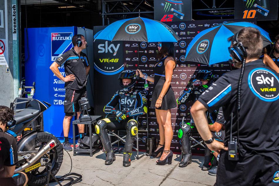 Die jüngsten Start des Sky Racing Teams in der Moto3 kommen 2018 noch nicht so richtig in Schwung.