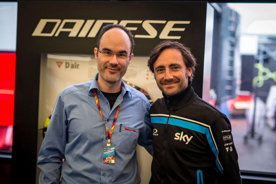 Markus Kahl trifft Pablo Nieto zum Gespräch am Sachsenring 2018.