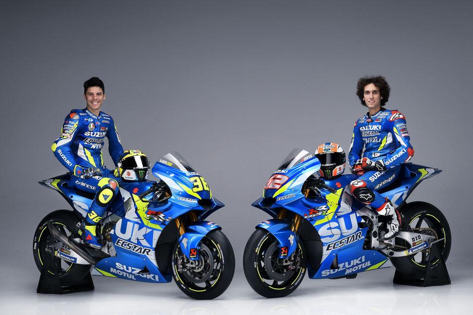 Joan Mir und Alex Rins für Suzuki in der MotoGP Saison 2019