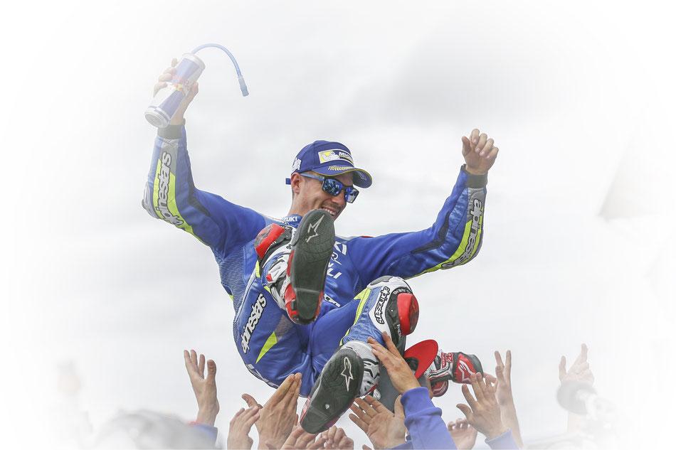 Maverick Vinales 2016 in der MotoGP in Silverstone für Suzuki