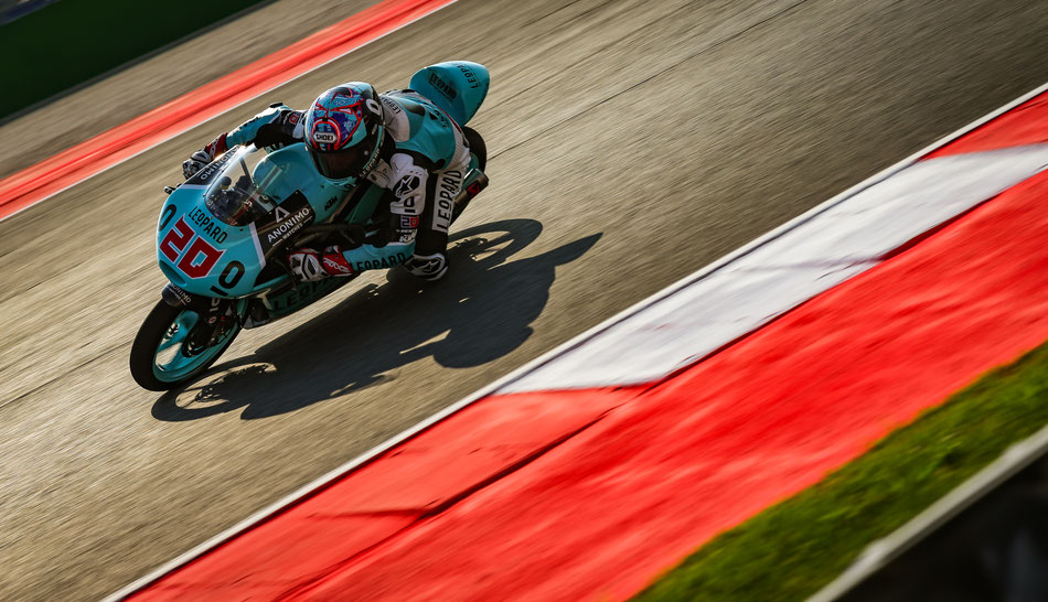 Fabio Quartararo in der Moto3 in Misano 2016 für Leopard Racing.