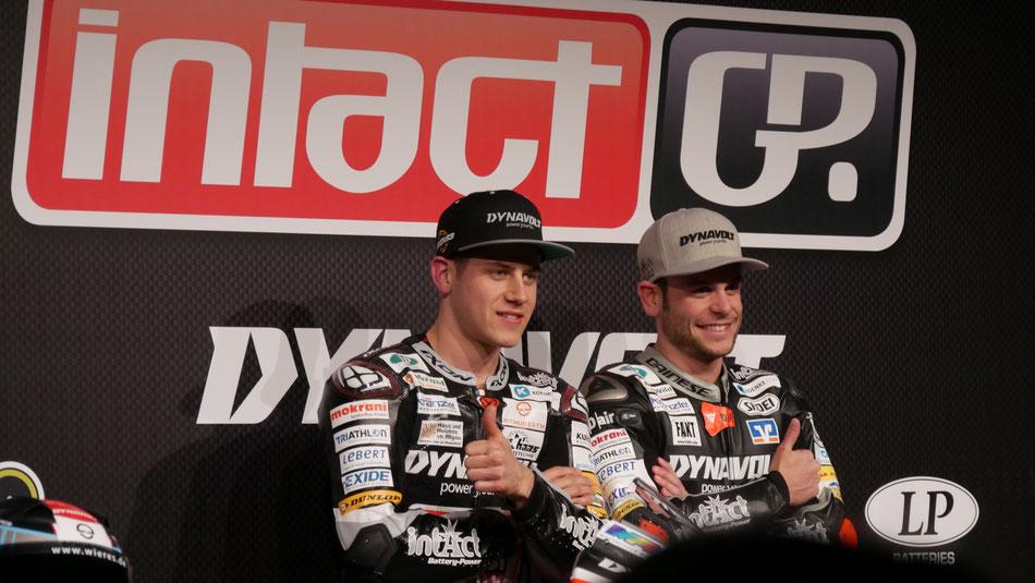 Marcel Schrötter und Sandro Cortese stellen sich und ihr IntactGP Team offiziell für 2017 vor.