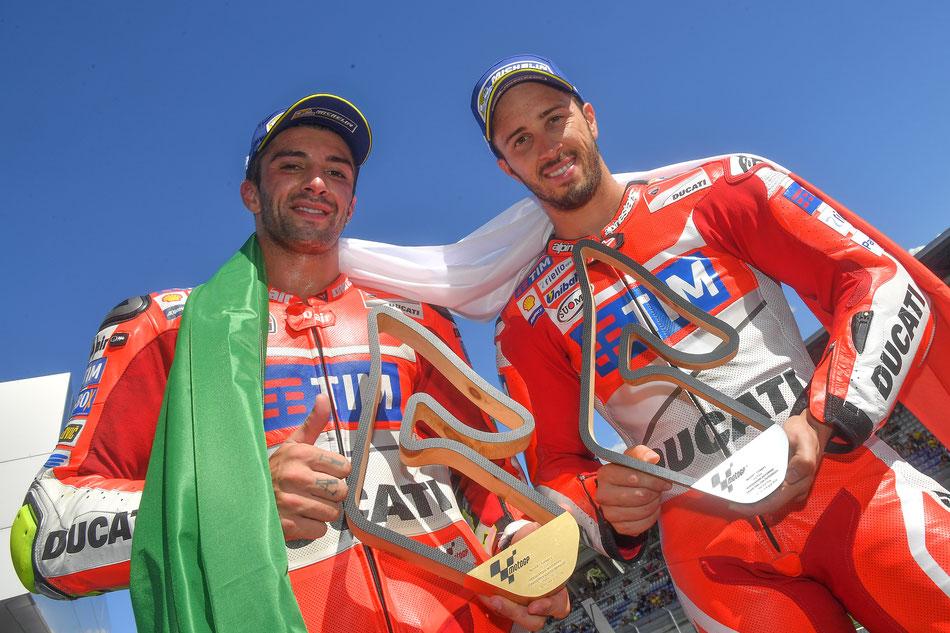 Andrea Iannone und Andrea Dovizioso für Ducati 2016 in der MotoGP in Spielberg
