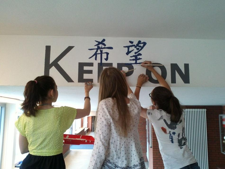 Die Schülerbeteiligung fördert die Identifikation mit dem Gebäude und der Schule.