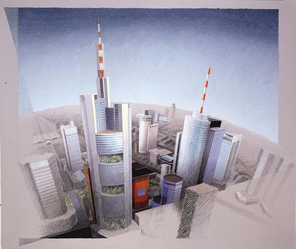 Skyline Frankfurt, Kunstdruck signiert: 28 €
