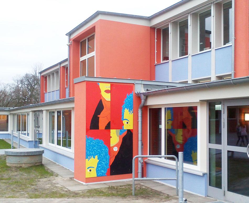 Alexander-von-Humboldt, Schulhofgestaltung mit den Schülern im WP 3 Kurs, Betreut von Werner Krömeke
