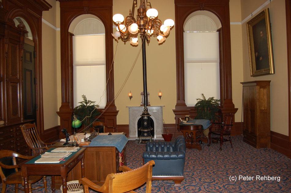 Amtszimmer des Gouverneurs, 1906, Capitol, Sacramento, Peter Rehberg