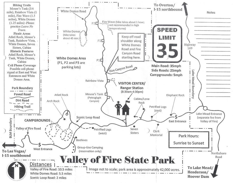 Parkplan, Valley of Fire, Peter Rehberg
