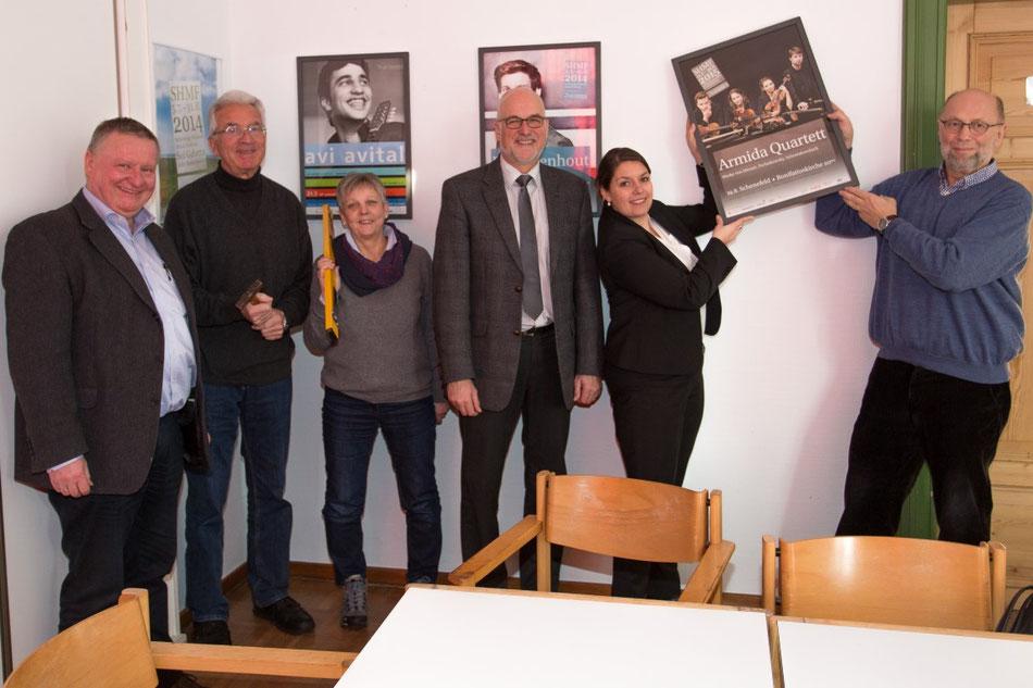von links, M. Kaiser, Dr. K. Nühs, V. Dutzmann, J. Hansen, J. van Beek (SHMF) und C. Dutzmann