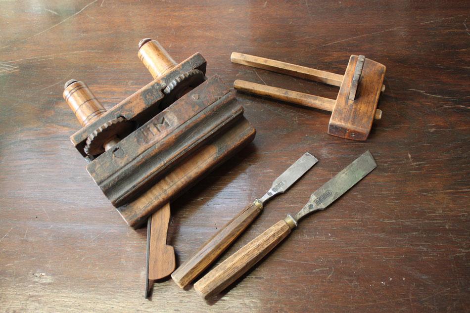Altes Werkzeug, beim Restaurieren unverzichtbar;