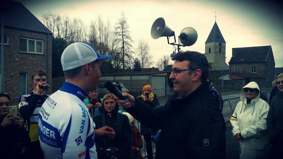 Brem Deman (Van Moer Logisctics) uit Opwijk winnaar van de 64ste Lenteprijs voor Juniores te Mazenzele