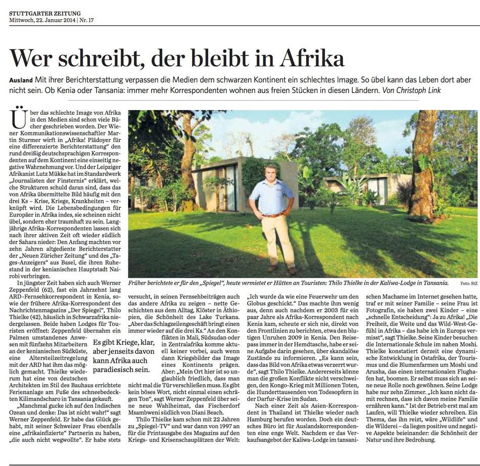Bericht in der Stuttgarter Zeitung über die Korrespondenten-Connection