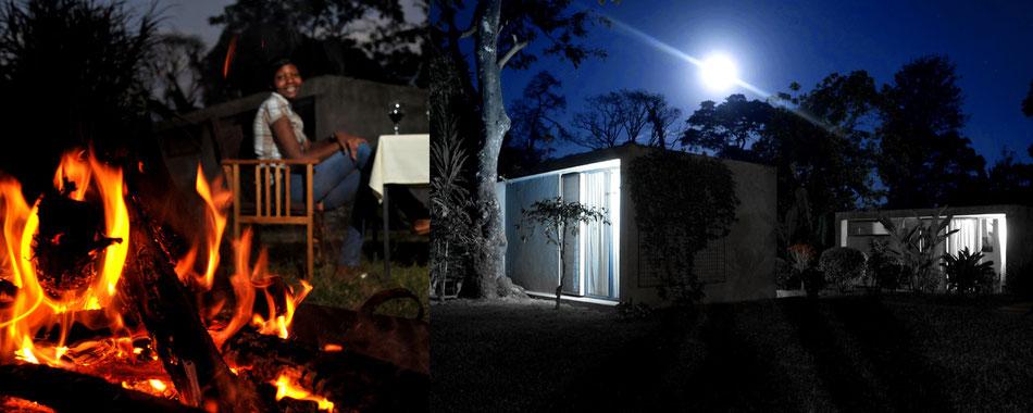 """""""Super Preis-Leistungs-Verhältnis"""" (Merian Reiseführer) - Lagerfeuer in der Kaliwa Lodge"""