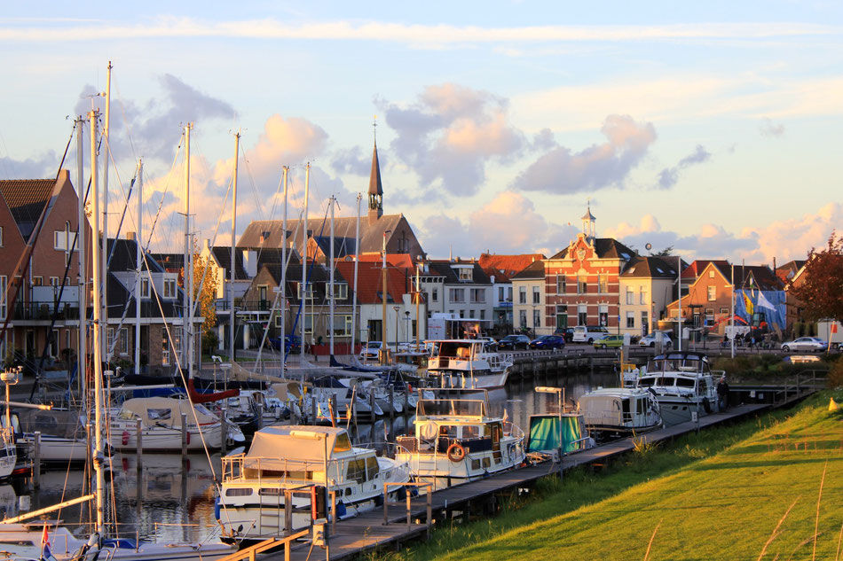 Oude-Tonge harbour, beautiful village, starting point for Spin fishing in Holland, Netherlands