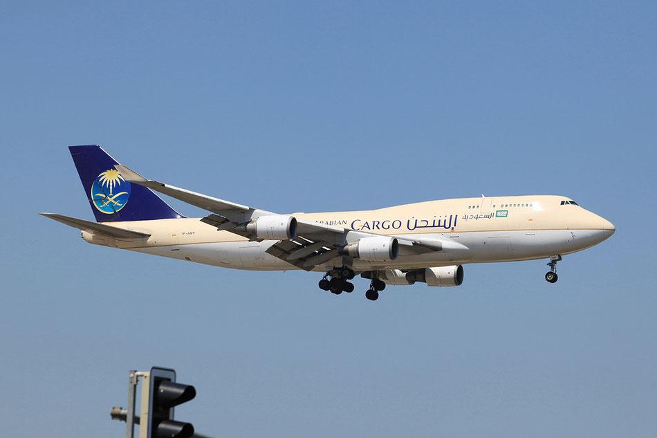 Die TF-AMP der Saudi Arabien Cargo im Juli 2013 in Frankfurt.