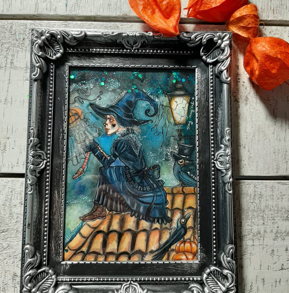 This Halloween witch brings some magic..75 euro SOLD
