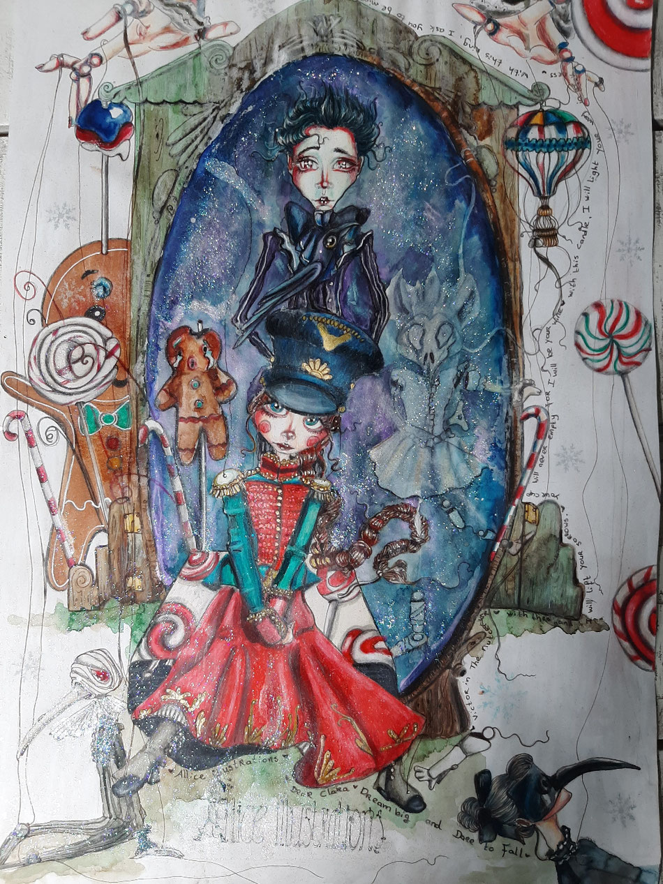 My adjusted puppeteer...the nutcracker still available for 80 euro SOLD