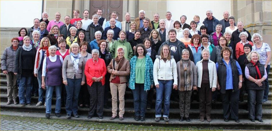 Gemischter Chor und Local Vocals beim Probenwochenende 2012 auf der Comburg in Schwäbisch Hall