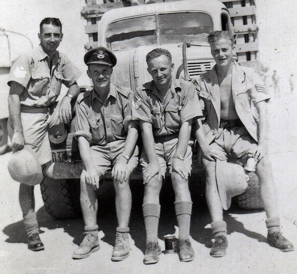 WO Griffiths,    Pil Off R Evers,   Sgt Sammy Hall,   Sgt Jimmy Wilson