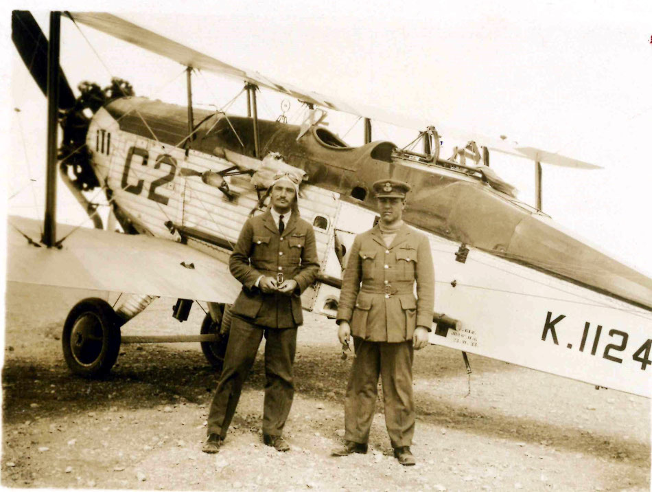 Hinaidi early '30s  FO J O W Oliver possibly with Air Gunner.  Westland Wapity behind