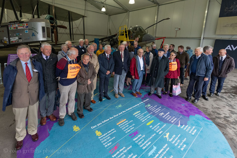 Surviving Participants of all categories in the 1969 Transatlantic Air Race celebrating at the First and Fastest exhibition at Brooklands 2019.