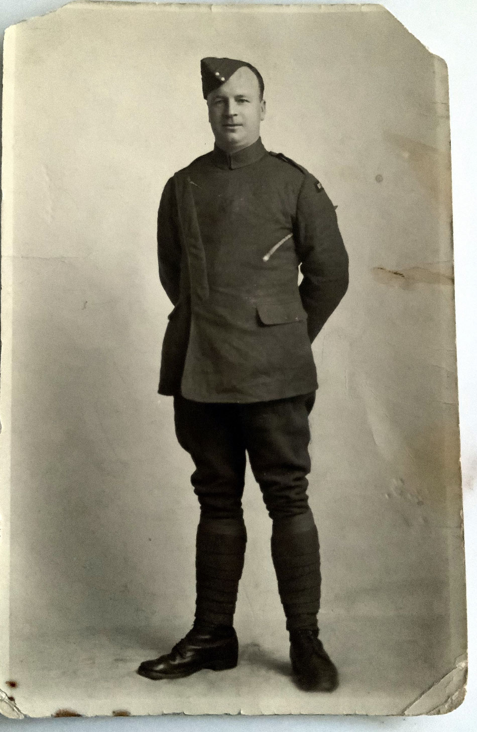 Dispatch rider and Air Mech George James Knight, who served at Azelot, France in 1918