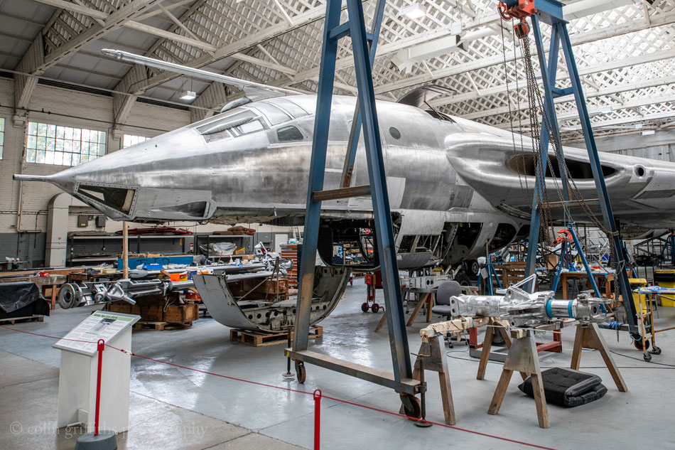 And they're still at it... Colin Griffiths sent this picture after his visit to Duxford this Autumn.  Will it be finished in 55 livery?