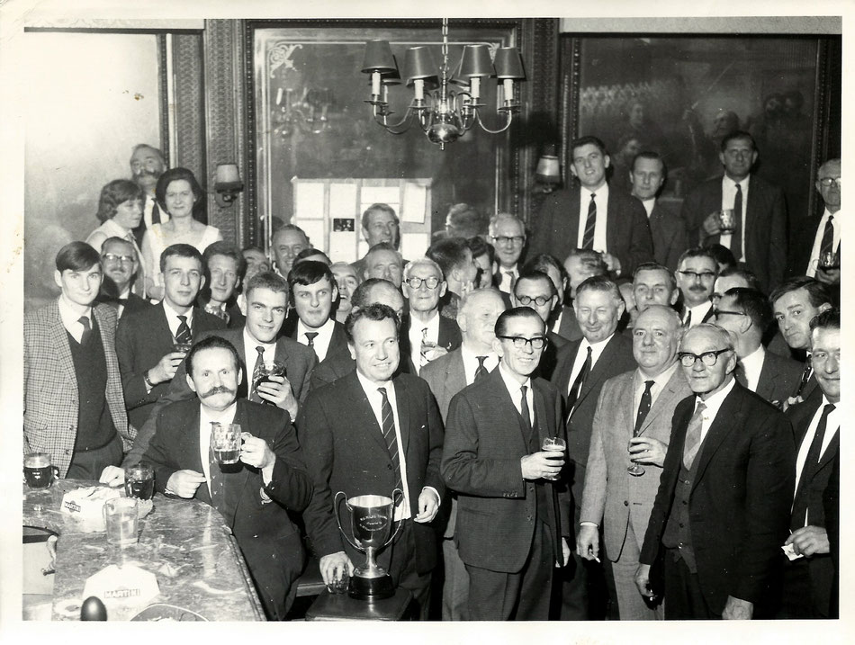 A  55 Squadron Association re-union - Stanhope Arms, Kensington with Wg Cdr Harvey and Ex and Serving Squadron members 1967 / 8