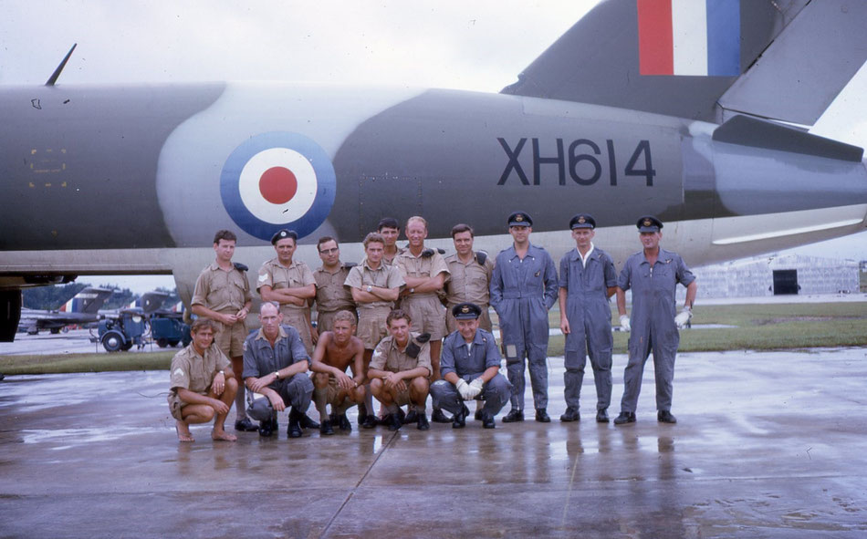 James crew and Servicing crew at RAF Tengah