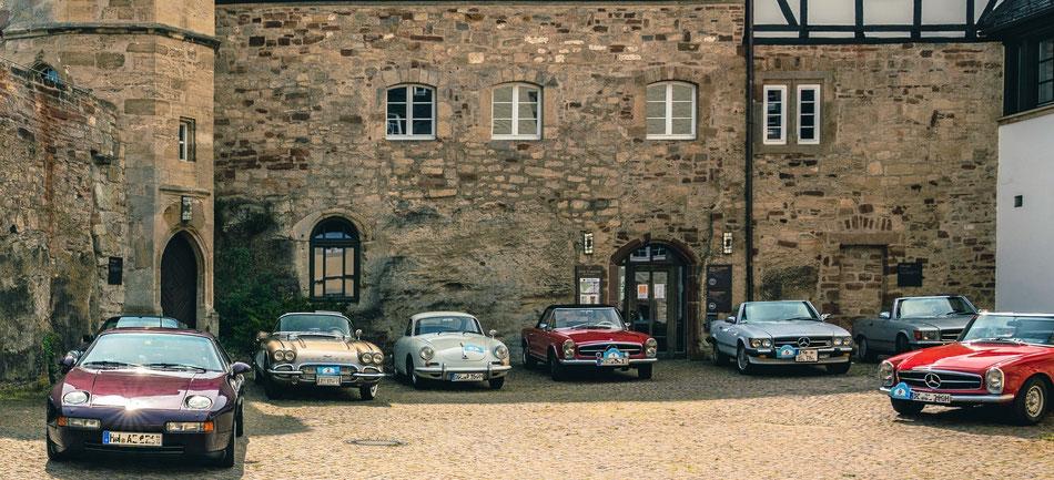 Exklusiver Parkplatz im Schloss Waldeck
