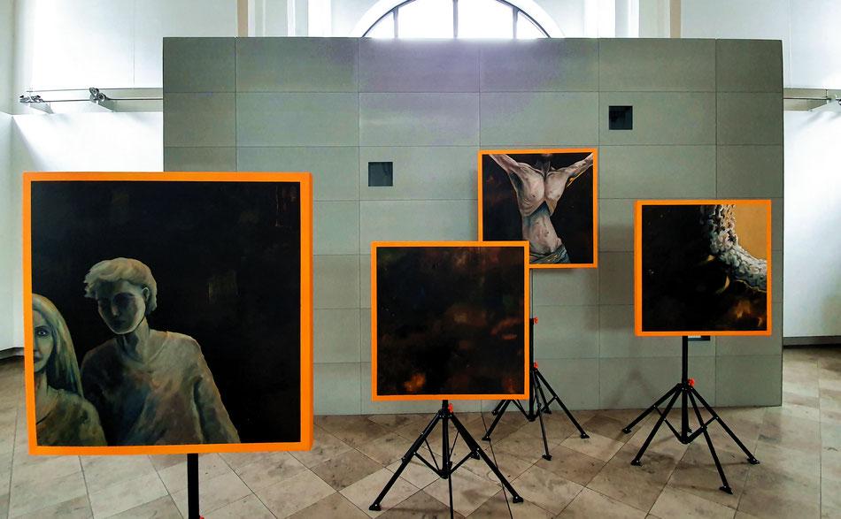 Verlassen Raoul Rossmy Atem Christus Jugendkirche Ausstellung sakral katholisch modern EJA
