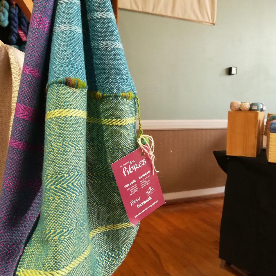 Tissage de Lauren Back de La maison des fibres