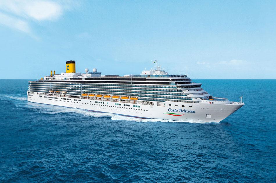 Costa: Deliziosa auf Weltreise ab 03.05.2022 - jetzt bei uns reservieren und Vorfreude genießen...