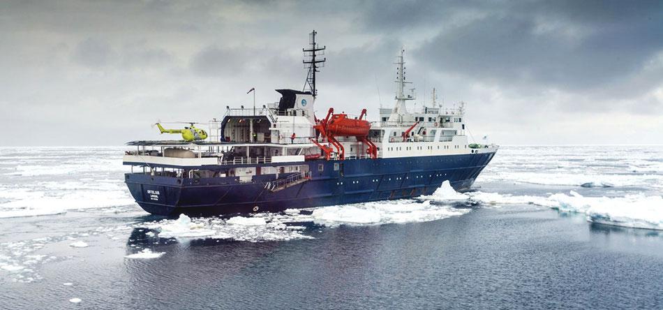 Top-Exklusiv-Charter Ost-Grönland:  12-tägige Schiffsreise mit der MS Plancius:  Reisetermin: 2020 auf Anfrage  Reisepreis: ab € 5.950.-