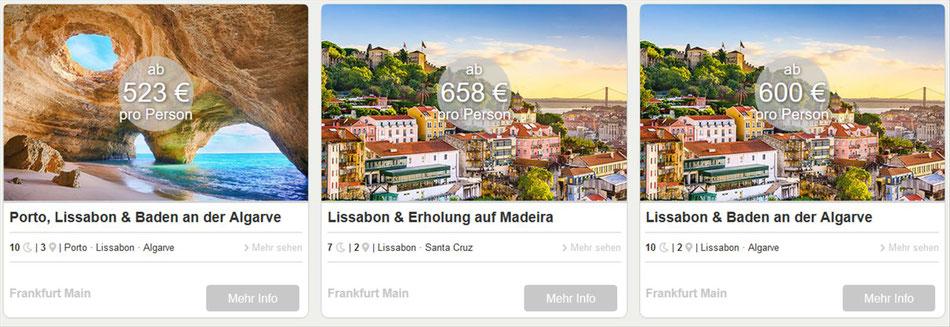 Kombireisen: Porto-Lissabon und Algarve..jetzt bei Singer Rreisen & Versicherungen Ihren Urlaub buchen...
