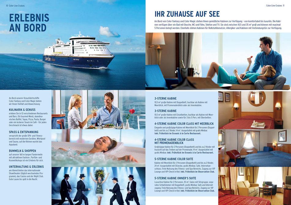 Oslo Erlebnisse an Bord der Color Line erleben.