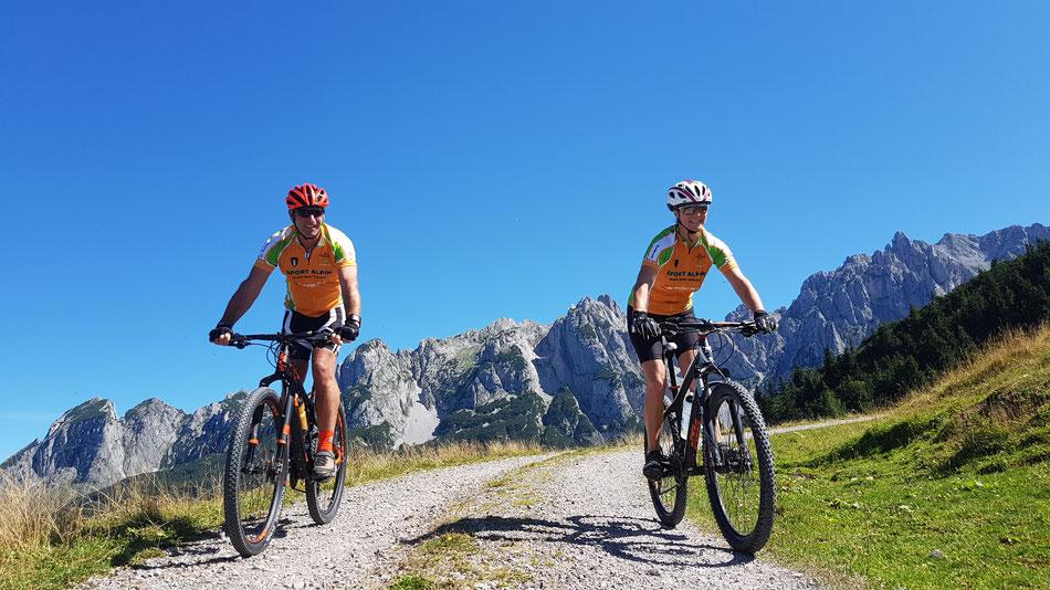 Mountainbiken und Rennradfahren in Werfenweng
